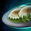 Plate of Clear Truffle and Cilantro Ravioli.png
