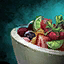 Bowl of Fruit Salad with Cilantro Garnish.png