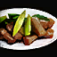 Plate of Roast Meat with Braised Leeks.png