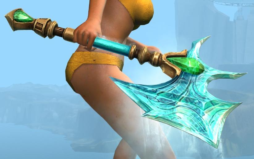 Frostforged Axe Skin Guild Wars 2 Wiki Gw2w