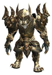 Mistforged Glorious Hero's armor (heavy) charr female front.jpg