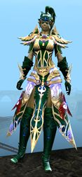 Mistforged Triumphant Hero's armor (light) sylvari female front.jpg