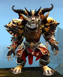 Triumphant Hero's armor (heavy) charr female front.jpg