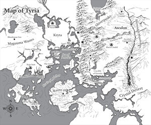 Dominion of winds guild wars 2 wiki gw2w map of tyria from novels the borders of the dominion of winds are shown sciox Gallery