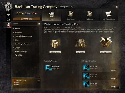 Guild wars 2 no trading system
