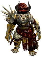 Spearmarshal's armor (heavy) charr female front.jpg