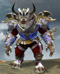 Mistforged Triumphant Hero's armor (medium) charr male front.jpg