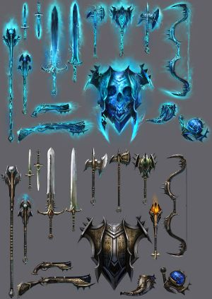 Ascalon Catacombs - R1 - Guía  300px-Weapons_01_concept_art_(ghastly_weapons)