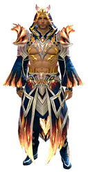 Flamekissed armor human male front.jpg