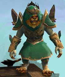 Ardent Glorious armor (light) charr male front.jpg