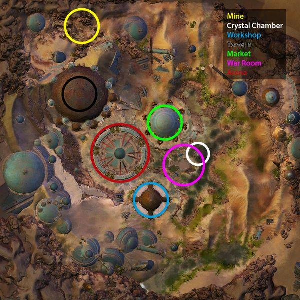 Evolution des trois halls de guildes