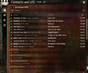 Contacts and LFG panel - Guild Wars 2 Wiki (GW2W)