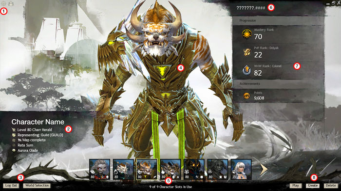 Guild Wars 2 Anime Characters : Character selection screen guild wars wiki gw w