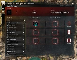 Objective upgrade guild wars 2 wiki gw2w the interface for guild claiming upgrades malvernweather Choice Image