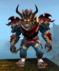 Triumphant Hero's armor (medium) charr male front.jpg