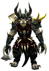 Bounty Hunter's armor (heavy) charr female front.jpg
