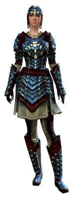 Reinforced Scale armor human female front.jpg