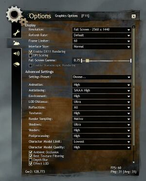 Options - Guild Wars 2 Wiki (GW2W)