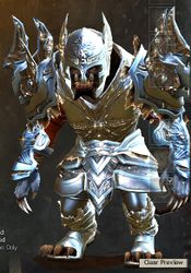 Mistforged Glorious Hero's armor (heavy) charr male front.jpg