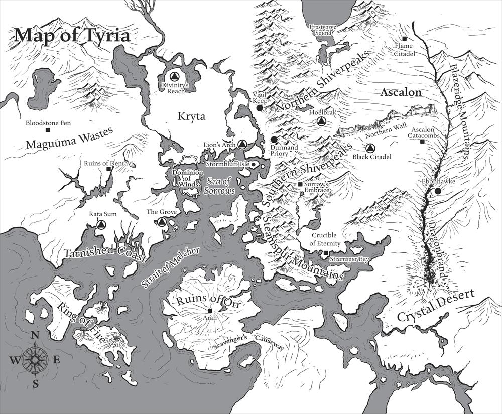 Carte de la tyrie (continent)