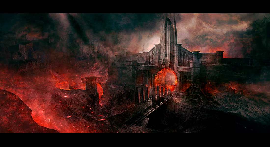 Concept arts places you would like to visit  Image Heavy Destroyed City Art