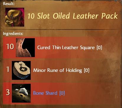 Guild wars 2 15 slot rugged leather bag