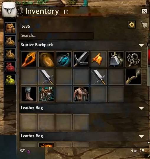 two worlds inventory slots