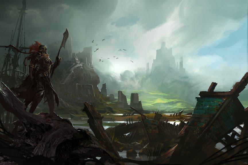 Mountain Marsh Castle Ruin | Kekai Kotaki | Pinterest | Of, Ruins ...