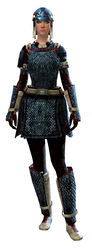 Worn Scale armor human female front.jpg