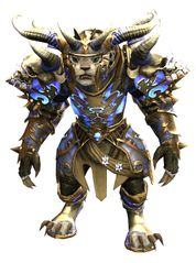 Mistforged Triumphant Hero's armor (heavy) charr female front.jpg