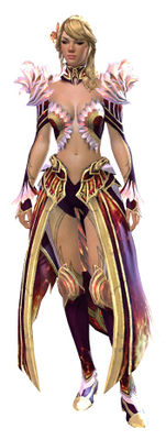 Flamekissed armor human female front.jpg