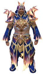Flamekissed armor norn male front.jpg
