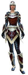 Tempered Scale armor human female front.jpg